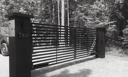 #8 | Portail moderne noire