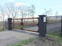#54 | Barrière en bois et aluminium
