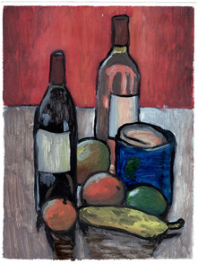Abstraction - Wine, Fruit and Candle