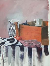 Still Life 02 - Striped Cloth