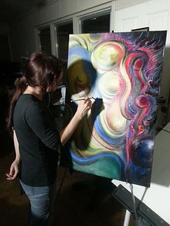 The artist at work