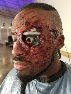 Special effects makeup for Joslin Dsouza's Terminator music video.