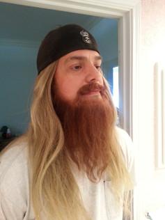 Fake mustache and beard