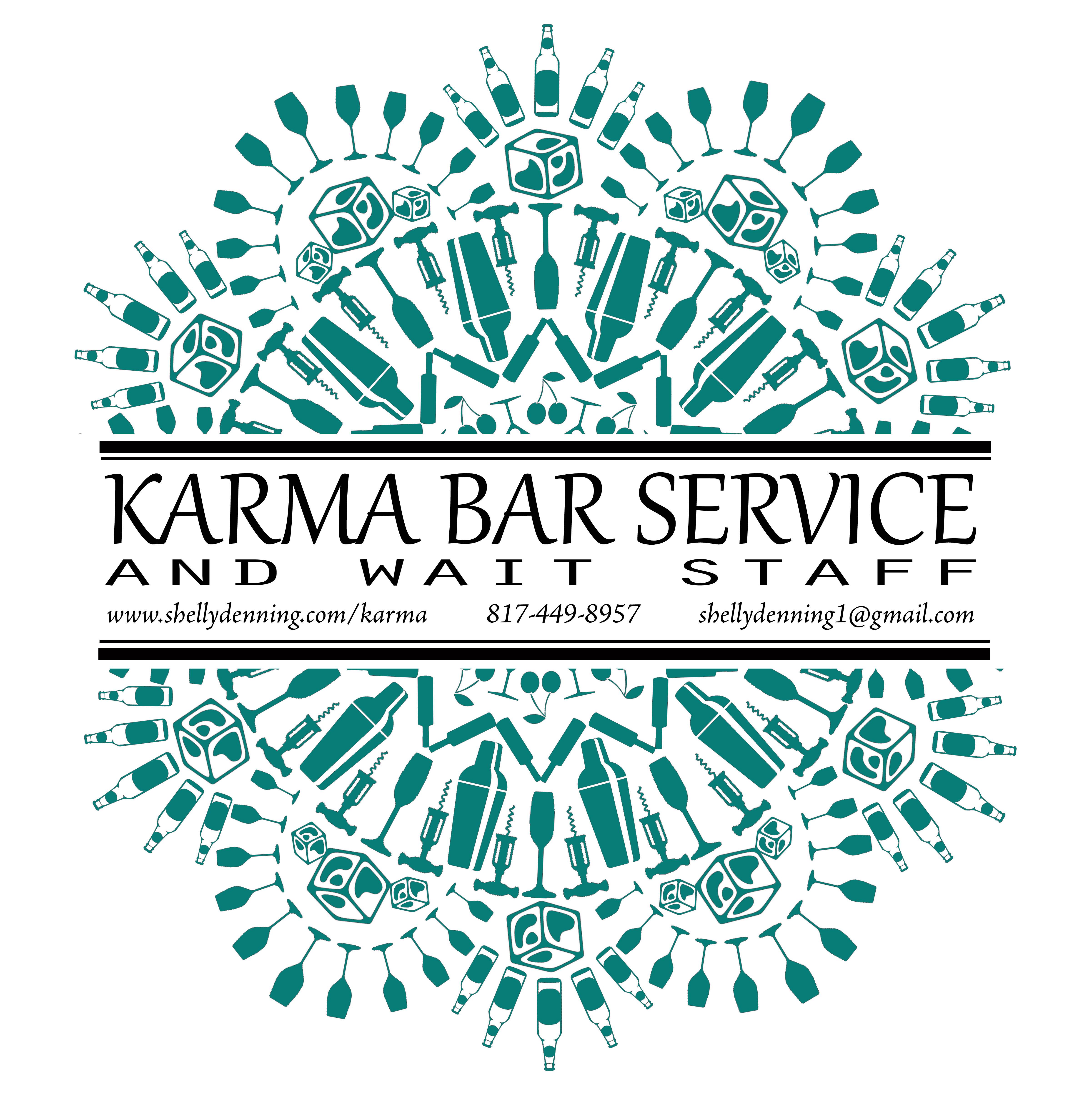Karma full logo with contact