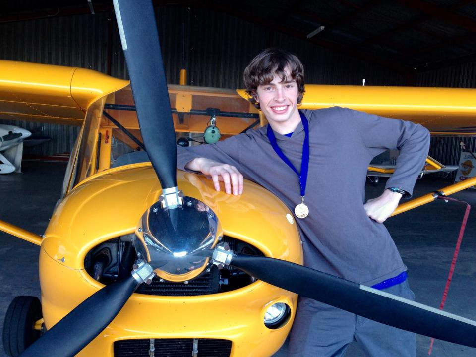 Caleb Butterfield student pilot the year 2014 | Hastings District Flying Club, Port Macquarie Recreational Aviation | HDFC Port Macquarie