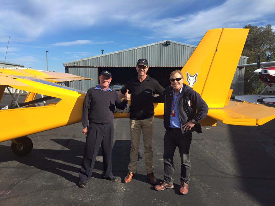 Trevor Kee first solo on 30th Aug 2016. Seen here with his flying instructor John Hayler (left) and CFI Ray Lind (right)