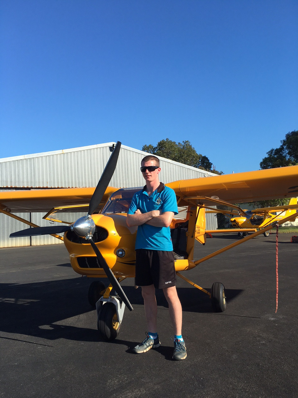 Mitchell Paterson gaining his pilot certificate
