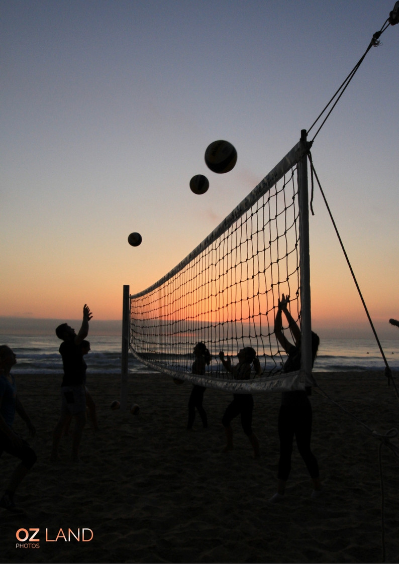 Karen Williamson, OZ Land Photos at Manly Beach early morning to catch volleyball players at sunrise