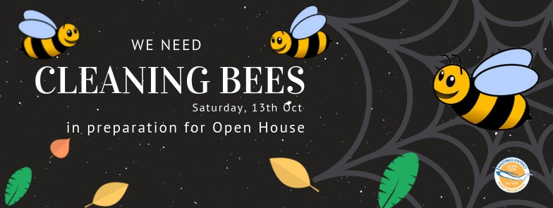 Cleaning Bees wanted on Sat 13th Oct to clean clubhouse and hangar in preparation for Open Day