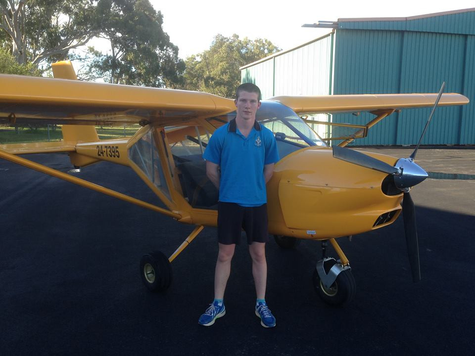 Mitchell Paterson first solo | Hastings District Flying Club, Port Macquarie Recreational Aviation | HDFC Port Macquarie