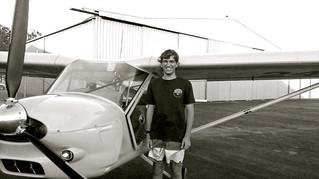Jack Kalchbauer's first solo flight