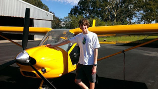 Caleb Butterfield gains Recreational Pilot Certificate!