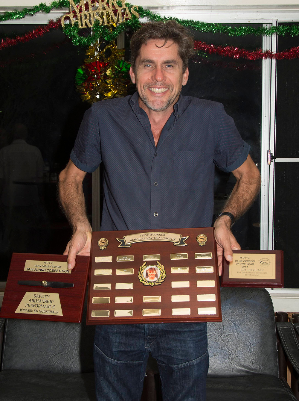 Ed Godschalk club person of the year 2014 | Hastings District Flying Club, Port Macquarie Recreational Aviation | HDFC Port Macquarie