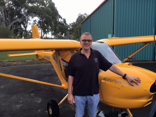 Dr Tim Amor gained Pilot Certificate