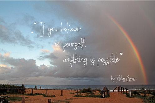 BELIEVE: Rainbow on Beach