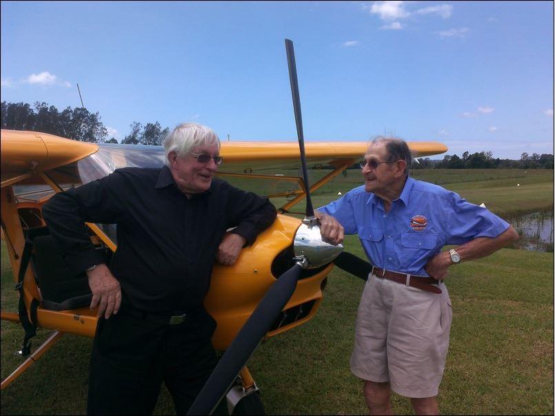 Bob Needham and Roy Cousins, his 90 yo student