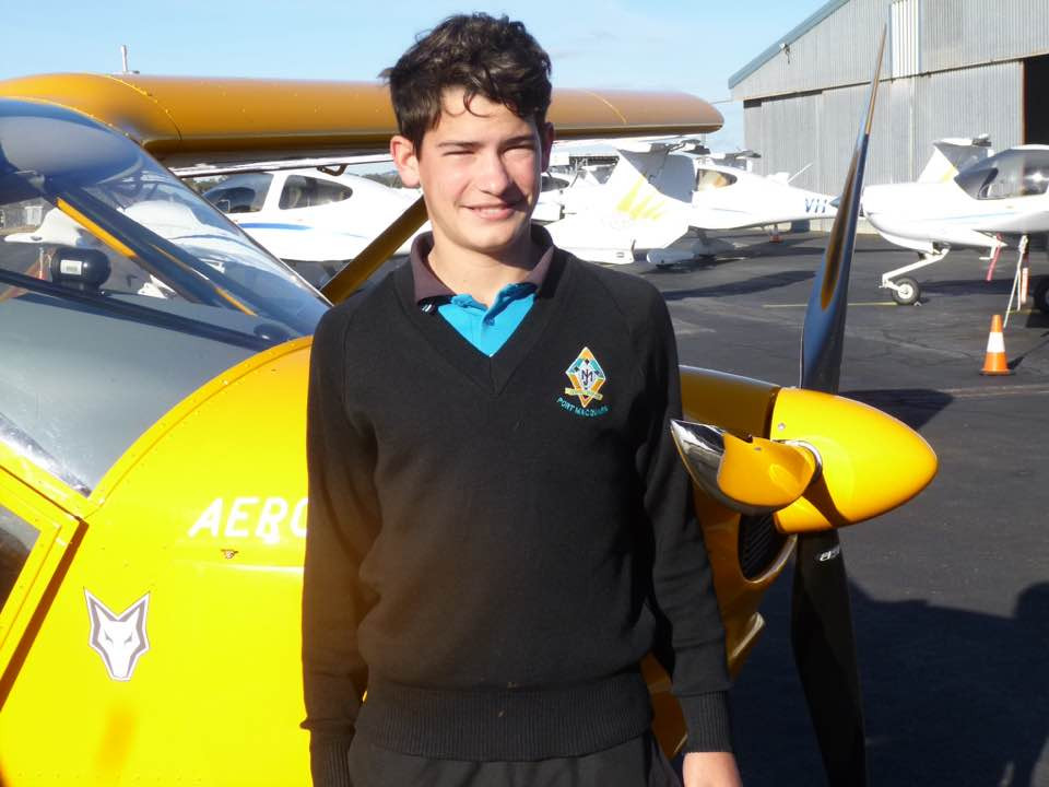 15 year old Jordan Maxwell achieved first solo on 28th Aug 2016
