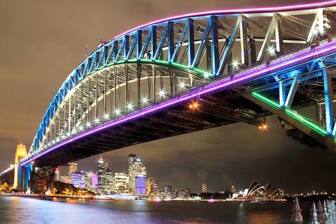 Sydney Harbour Bridge lighted up_edited.