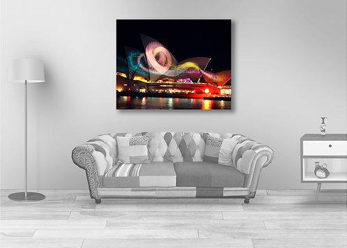 Sydney Opera House swirling lights