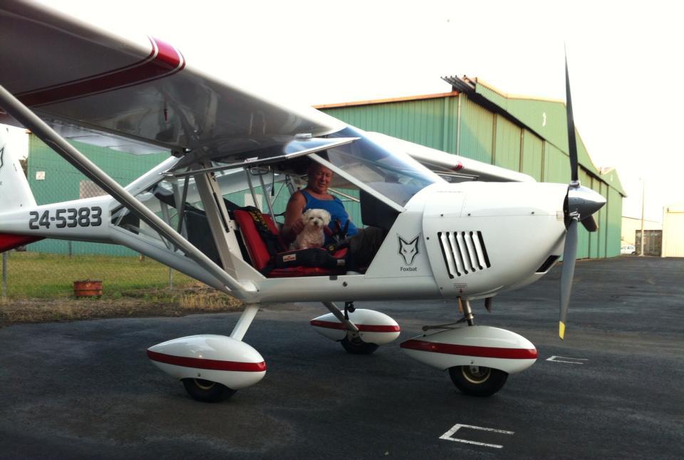 Doug Ross and his flying dog