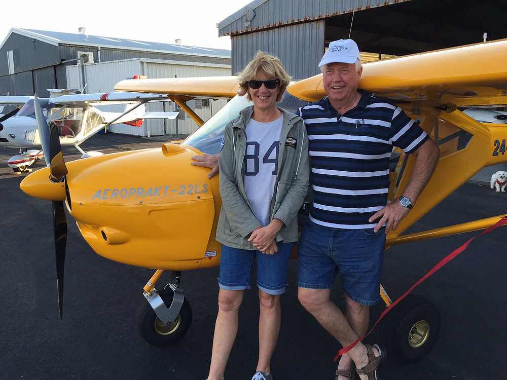 Gavin Law and Mary Pavicich - both are Bob Needham's flying students