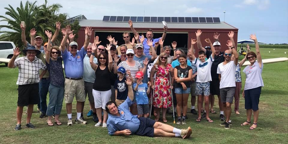 Happy times as HDFC members flew and drove into Palmers Island March 2018