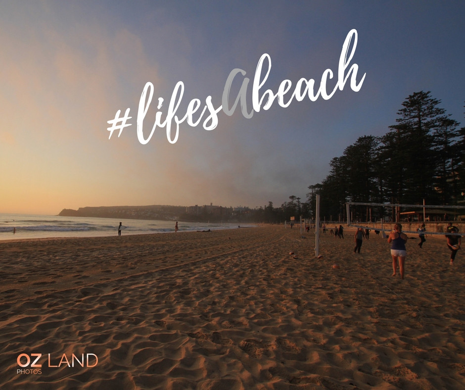 Manly Beach seemed to be divided into lanes of activities | Karen Williamson | OZ Land Photos