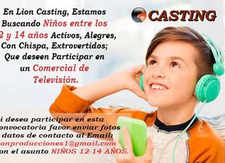 Casting Niños 12 a 14 Años