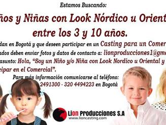 Niños y Niñas con Look Nórdico u Oriental entre los 3 y 10 años.