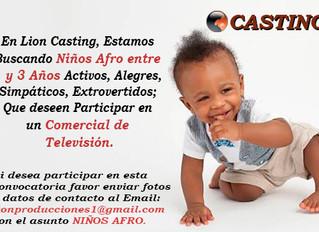 Casting Niños Afro 1 a 3 Años
