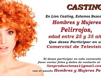 Casting: Hombres y Mujeres Pelirrojos - 25 a 35 Años