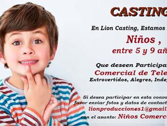 Casting Niños entre 5 y 9 Años
