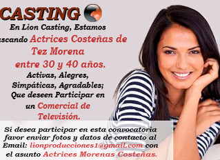 CASTING ACTRICES COSTEÑAS - TEZ MORENA