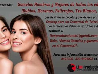 Gemelos Hombres y Mujeres de todas las edades y de todas las Caracteristicas Fisicas (Rubios, Moreno