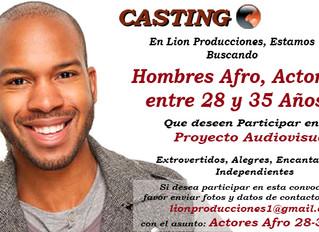 Hombres Afro, Actores entre 28 y 35 Años.