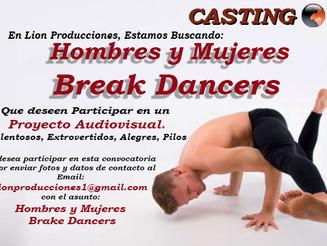 Buscando Hombres y Mujeres BreakDancers
