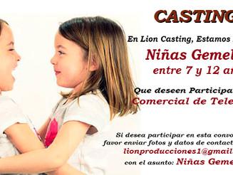 Casting: Niñas Gemelas entre los 7 y 10 años