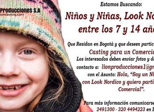 Niños y Niñas con Look Nórdico entre los 7 y 14 años.