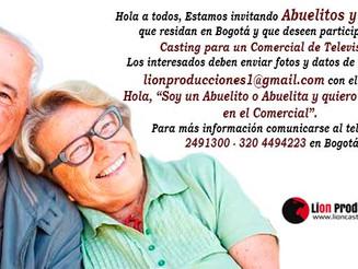 Estamos invitando Abuelitos y Abuelitas  que residan en Bogotá