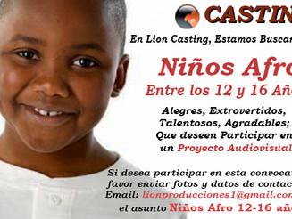 Niños Afro entre los 12 y 16 años