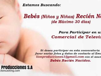 Bebés (Niños y Niñas) Recién Nacidos (de Máximo 30 días)