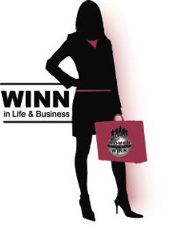 WINNLifeBiz-logo- Professional woman carrying a briefcase
