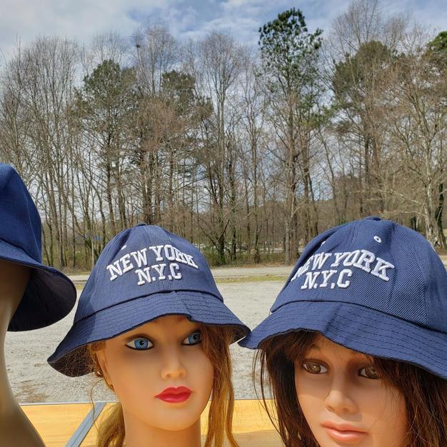 $45 UNISEX navy blue NYC bucket hat