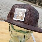 $30 UNISEX brown reptile style Hip Hop cap