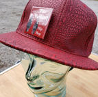 $30 UNISEX red reptile style Hip Hop cap