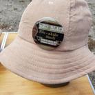 $40 UNISEX khaki corduroy bucket hat with pRO Active button