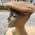 $50 UNISEX classic khaki corduroy Flatcap