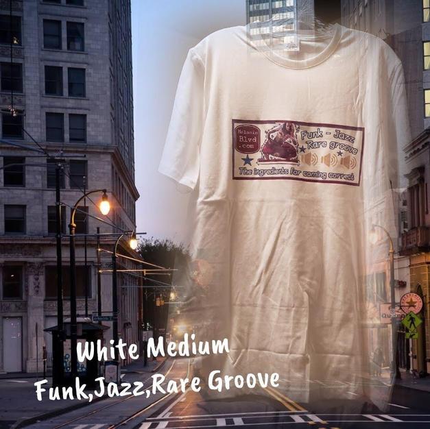 $15 UNISEX funk,jazz,rare groove white Medium