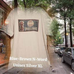 $20 UNISEX blue/brown N-word silver XL