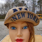 $75 UNISEX rare find navy/tan wool NY cap